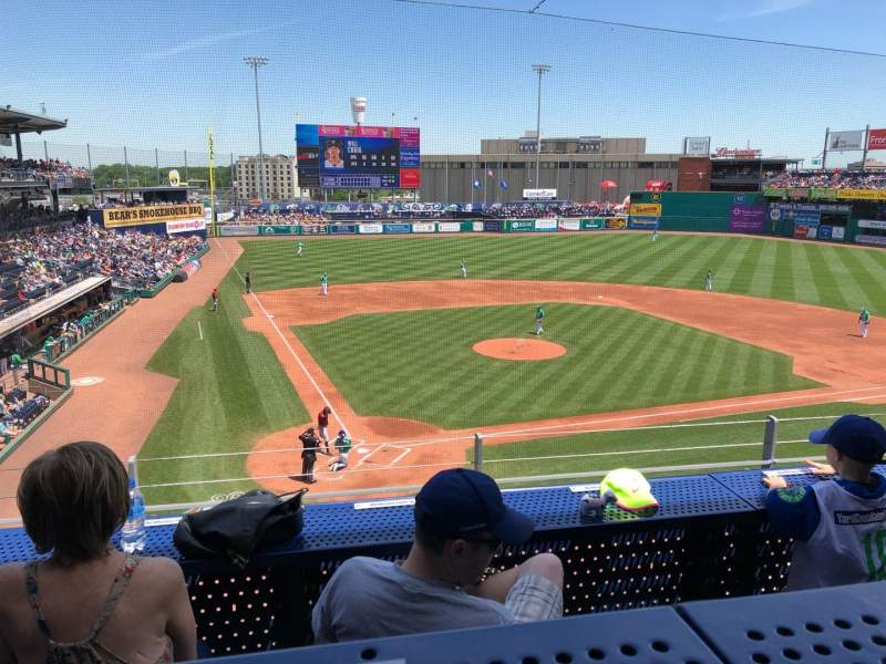 Dunkin' Donuts Park, section: 210, row: B, seat: 5