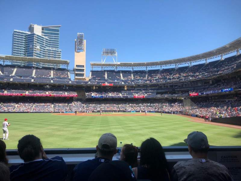 Seating view for PETCO Park Section 128 Row 2 Seat 3