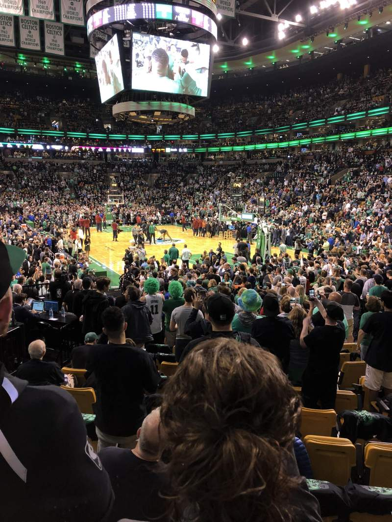 TD Garden, section: Loge 19, row: 12, seat: 12