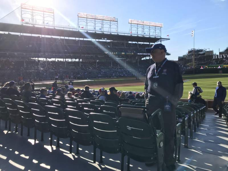 Seating view for Wrigley Field Section 135 Row 1 Seat 6