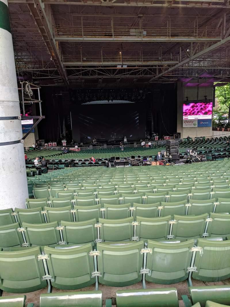 Xfinity Center, section: 6, row: X, seat: 34