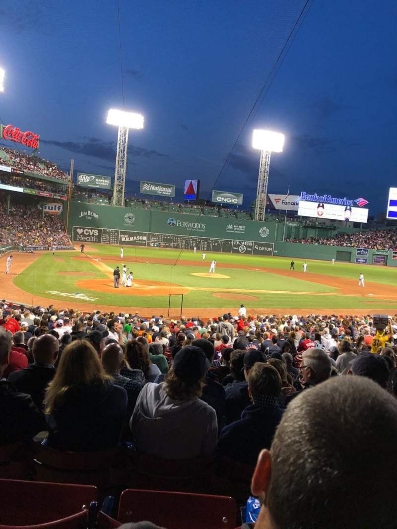 Seating view for Fenway Park Section Loge Box 125 Row MM Seat 9