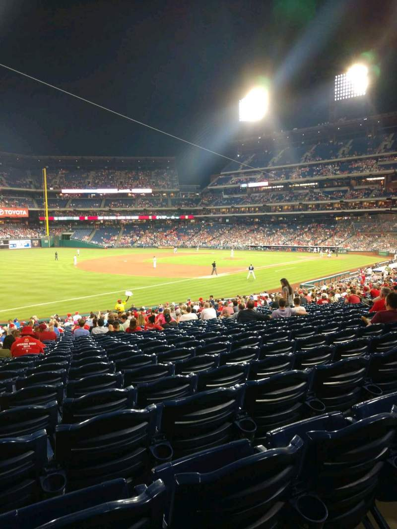 Seating view for Citizens Bank Park Section 136 Row 32 Seat 15