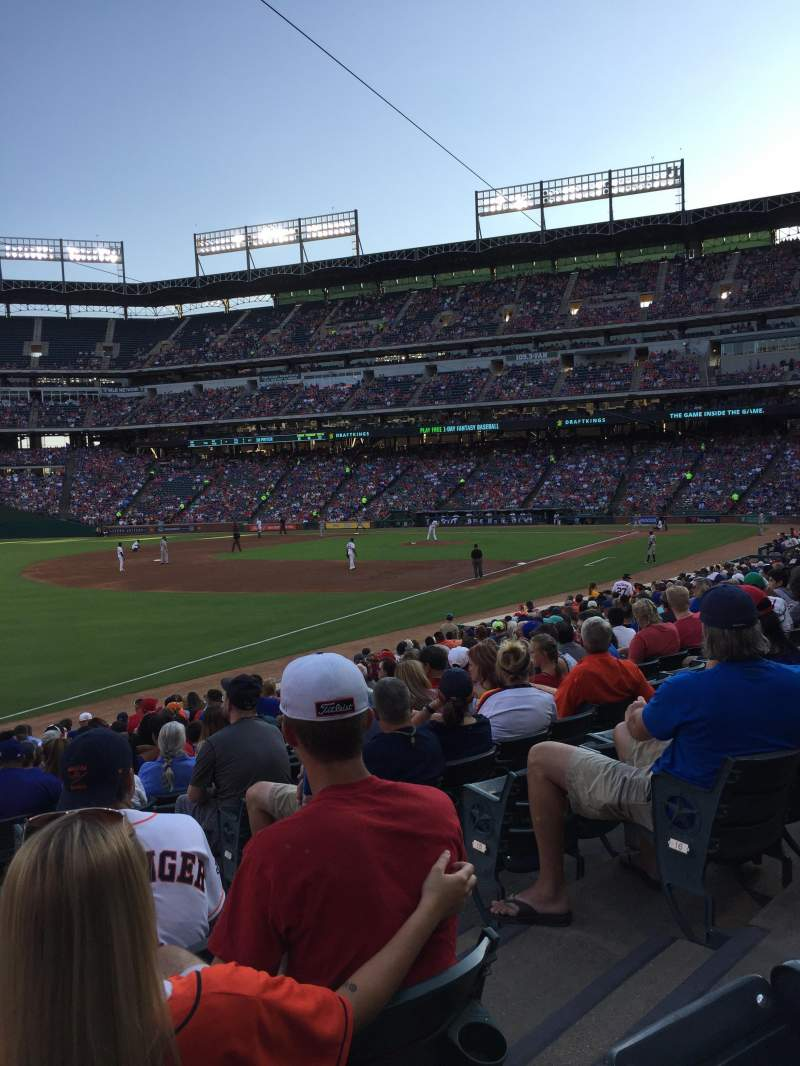 Seating view for Globe Life Park in Arlington Section 13 Row 18 Seat 4