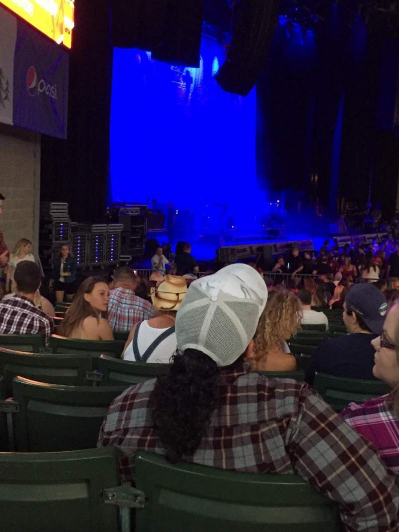 Xfinity Center, section: 3, row: GG, seat: 40