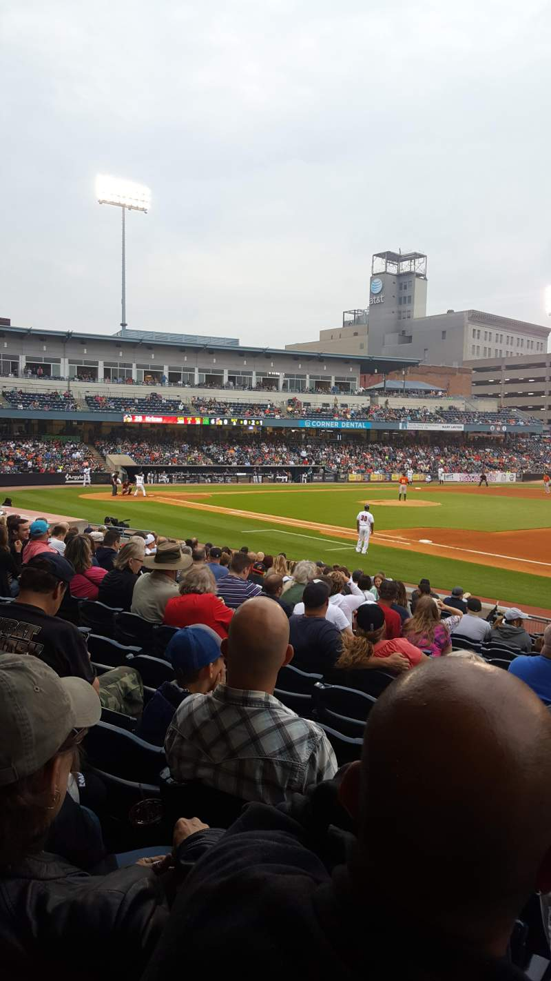Seating view for Fifth Third Field Section 117 Row R Seat 11