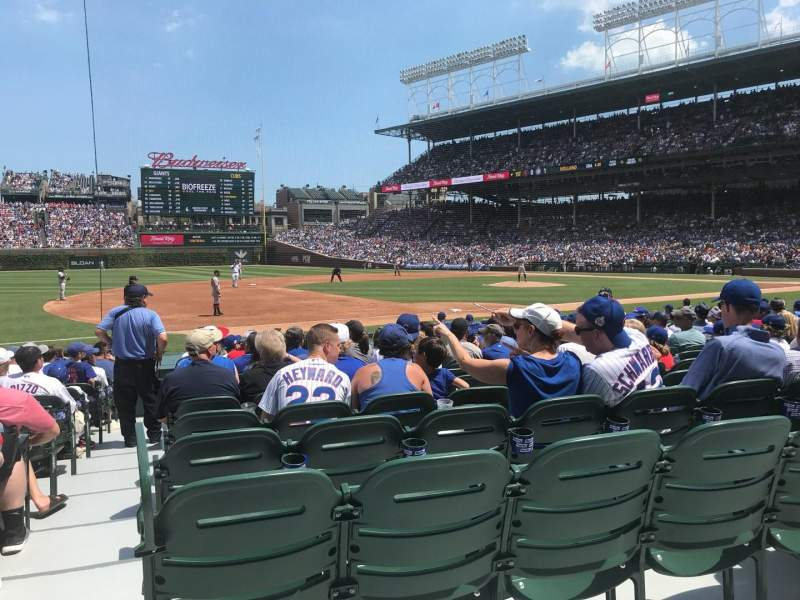 Seating view for Wrigley Field Section 110 Row 1 Seat 4