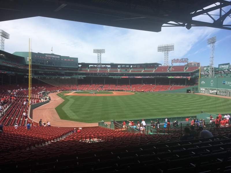 Seating view for Fenway Park Section Grandstand 2 Row 9 Seat 13
