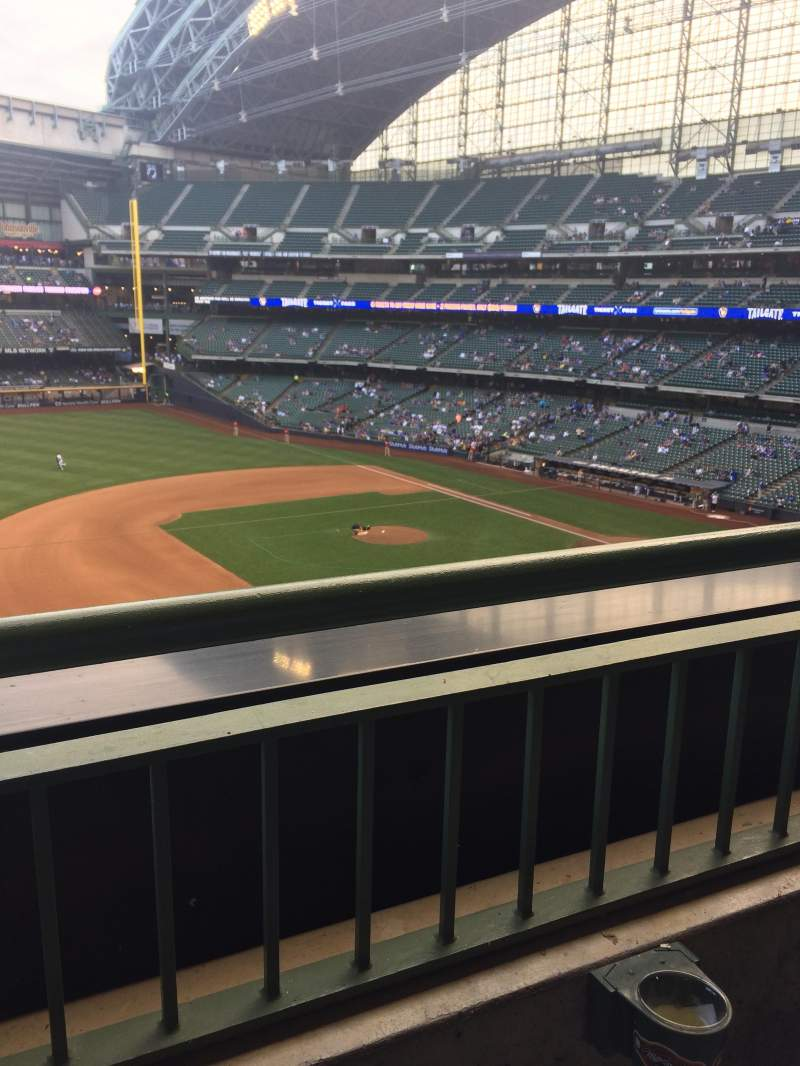 Miller Park, section: 342, row: 1, seat: 10