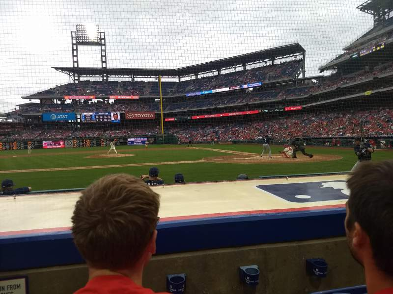 Seating view for Citizens Bank Park Section 129 Row 3 Seat 8