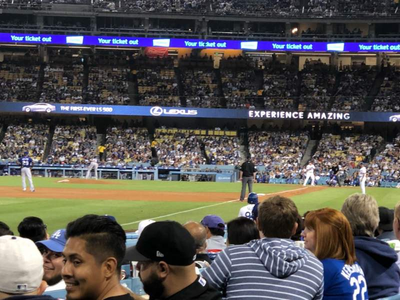 Seating view for Dodger Stadium Section 45FD Row A Seat 20