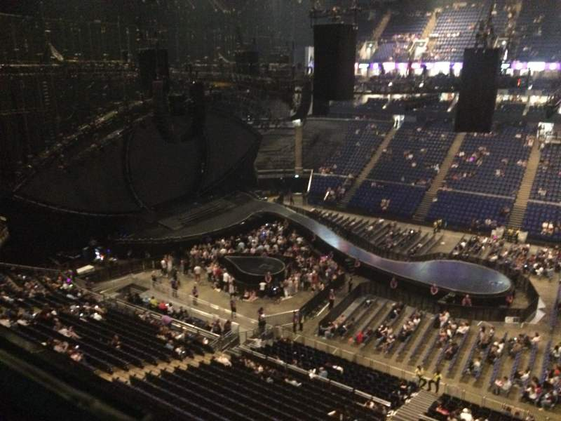 The O2 Arena, section: 404, row: A