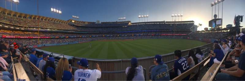 Seating view for Dodger Stadium Section 308PL Row C Seat 7