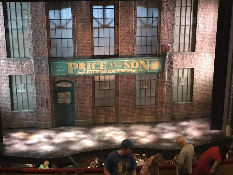 Seating view for Al Hirschfeld Theatre Section MEZZC Row L Seat 113
