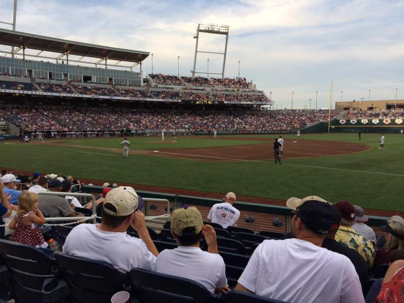 Seating view for TD Ameritrade Park Section 104 Row 9 Seat 18