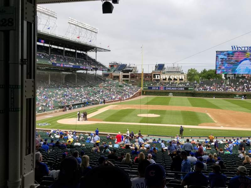 Seating view for Wrigley Field Section 228 Row 11 Seat 8