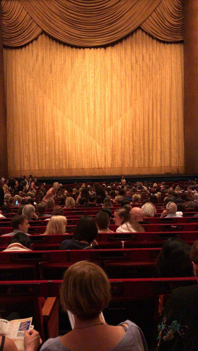 Seating view for Metropolitan Opera House - Lincoln Center Section Orchestra Row Z Seat 110