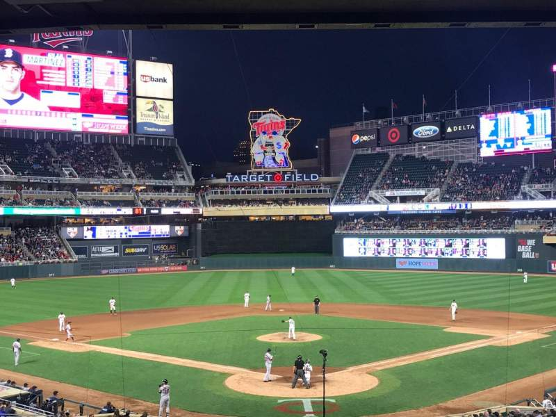 Seating view for Target Field Section 114 Row 25 Seat 12