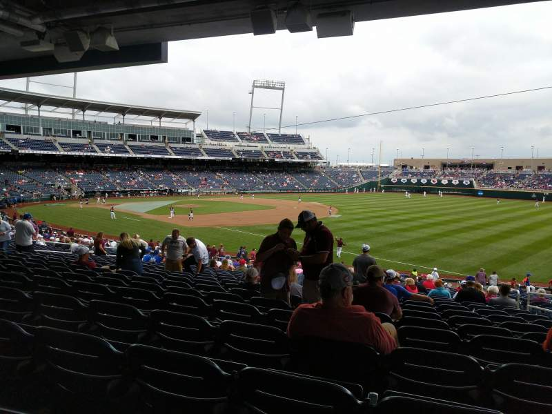 Seating view for TD Ameritrade Park Section 103 Row 31 Seat 4