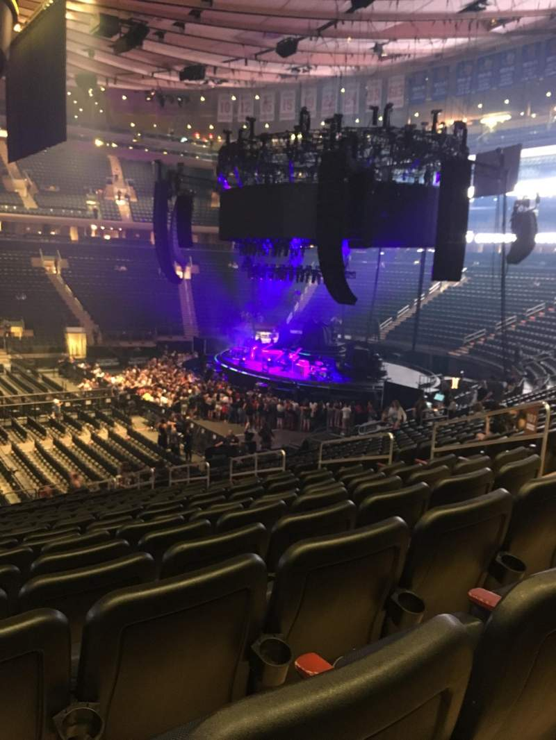 Madison Square Garden, section: 107, row: 21, seat: 6