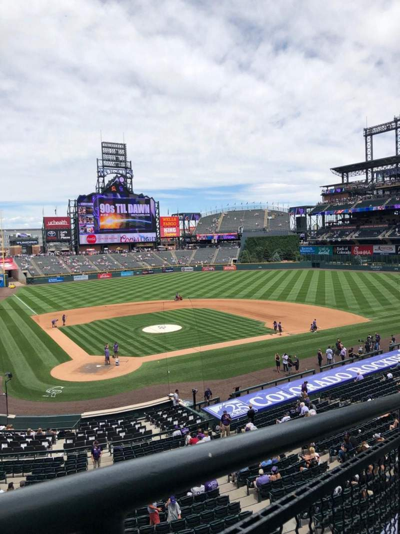 Seating view for Coors Field Section 227 Row 4 Seat 11