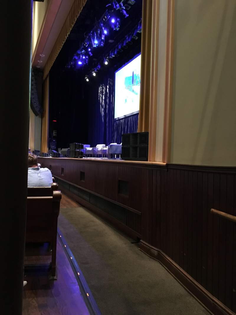 Seating view for Ryman Auditorium Section MF-1 Row M Seat 1