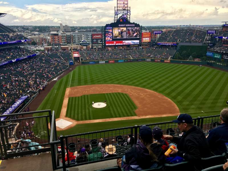 Seating view for Coors Field Section U325 Row 13 Seat 22