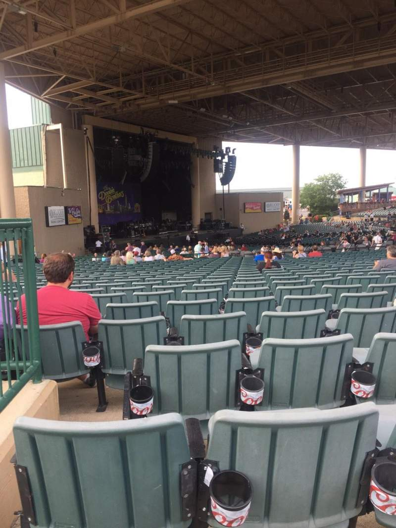 Seating view for Ruoff Home Mortgage Music Center Section D Row BB Seat 29