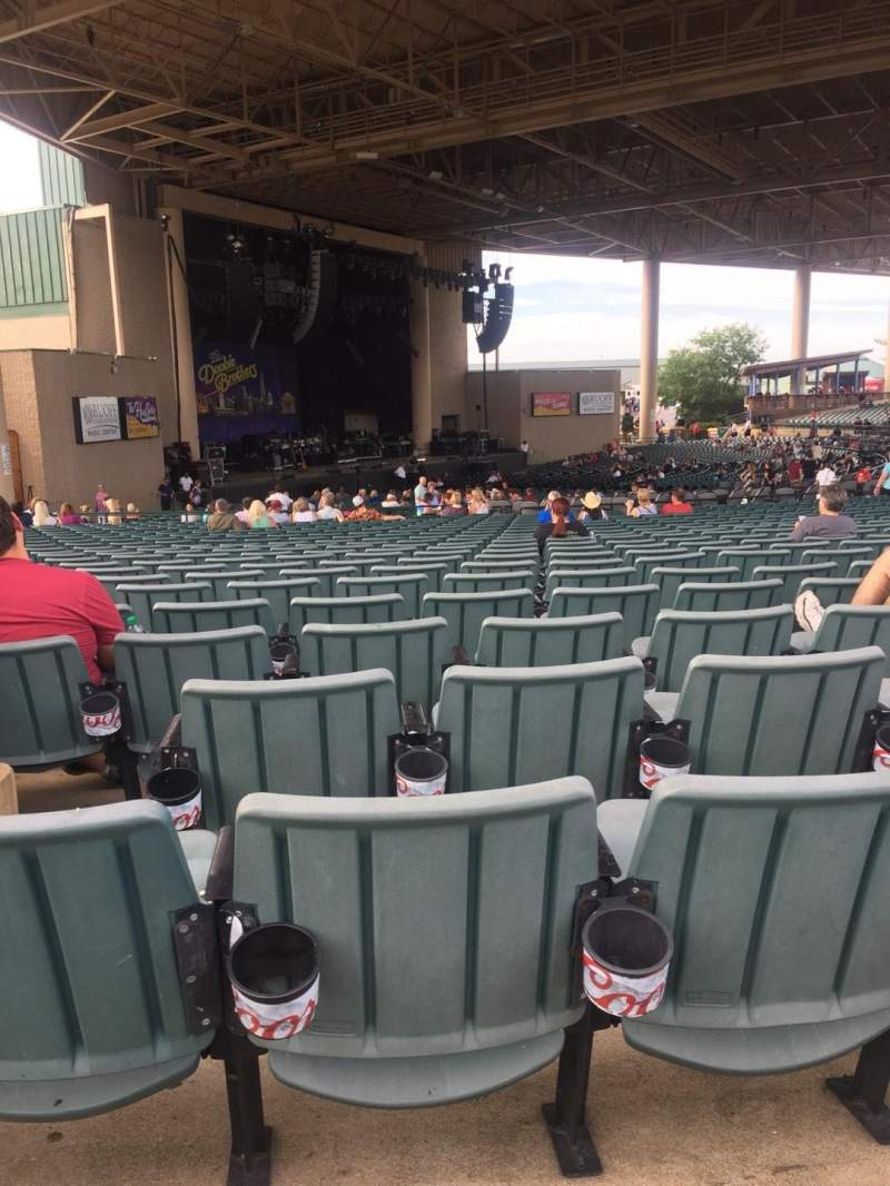 Seating view for Ruoff Home Mortgage Music Center Section D Row BB Seat 28