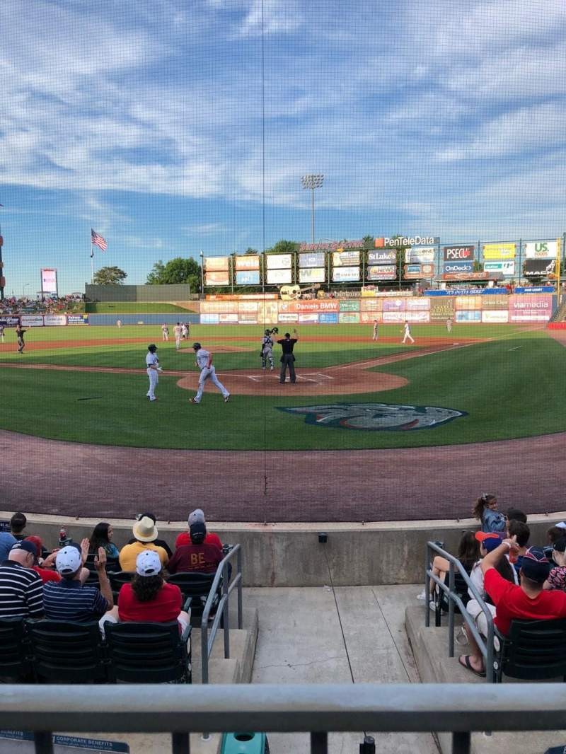 Seating view for Coca-Cola Park Section 113 Row J Seat 7