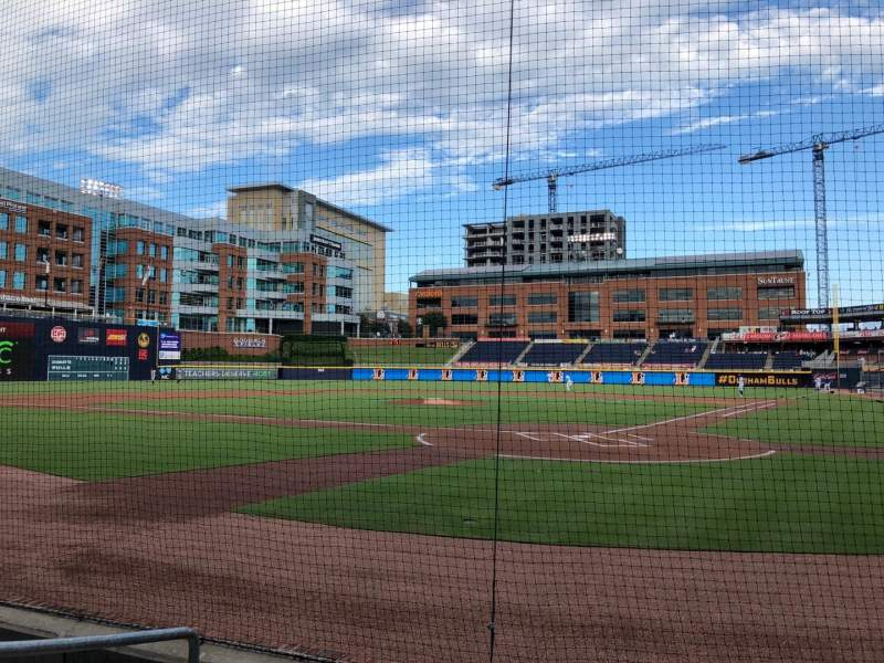 Seating view for Durham Bulls Athletic Park Section 101 Row D Seat 7