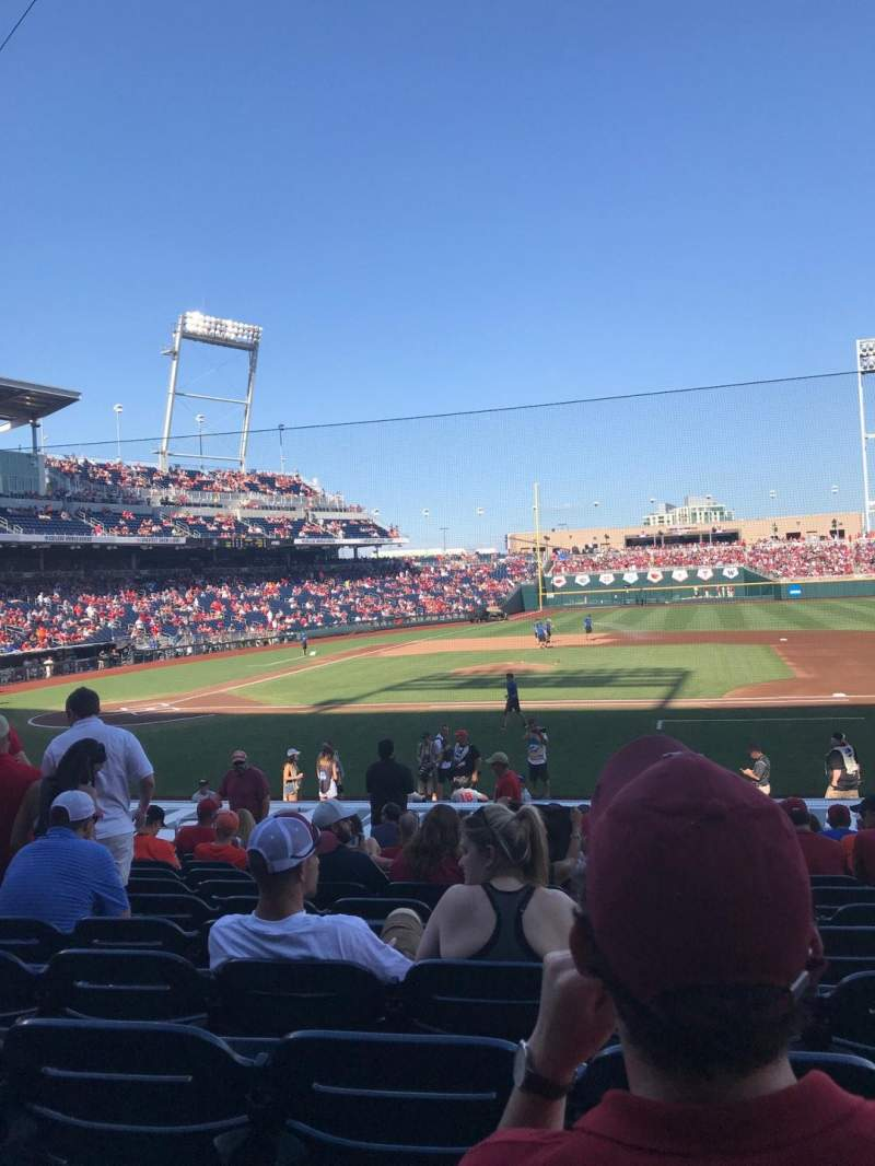 Seating view for TD Ameritrade Park Section 107 Row 18 Seat 6