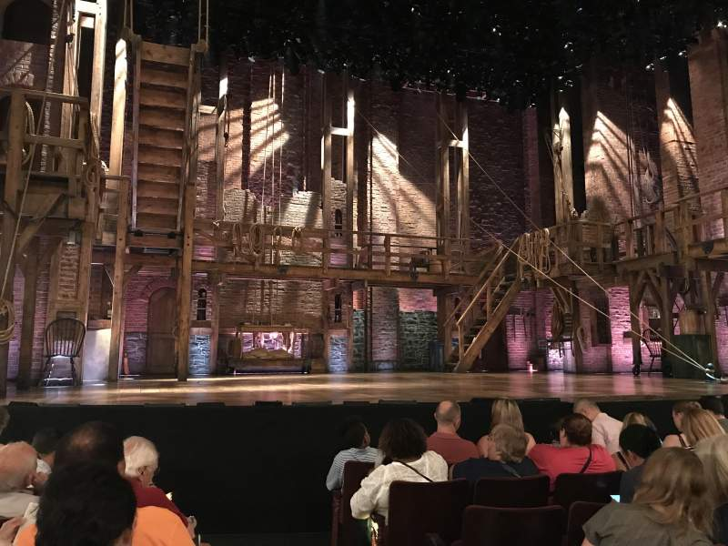 Seating view for Richard Rodgers Theatre Section Orchestra L Row F Seat 1