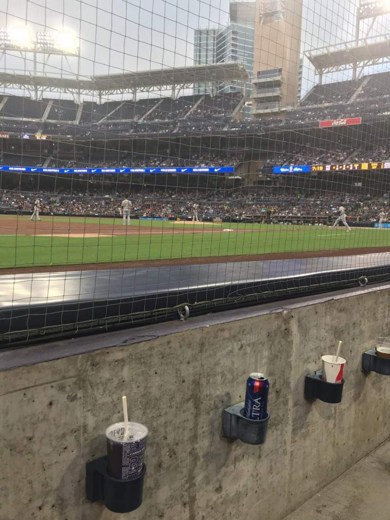 Seating view for PETCO Park Section 114 Row 1 Seat 10