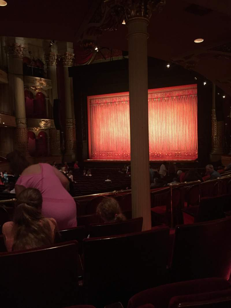 Academy of Music, section: Parquet circle B, row: X, seat: 16