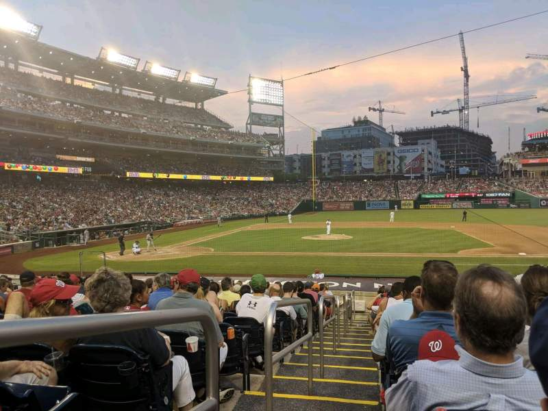 Nationals Park, section: 129, row: X, seat: 18