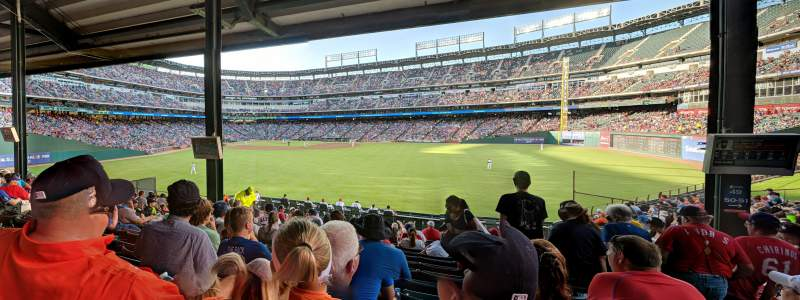 Seating view for Globe Life Park in Arlington Section 49 Row 19 Seat 12