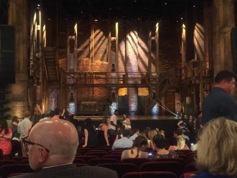 CIBC Theatre, section: ORCH C, row: U, seat: 105