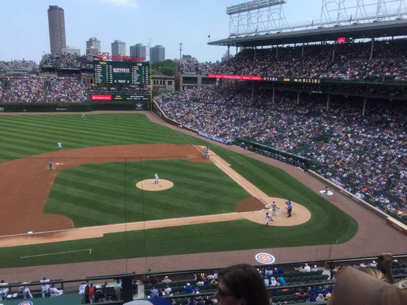 Seating view for Wrigley Field Section 311L Row 3 Seat 7