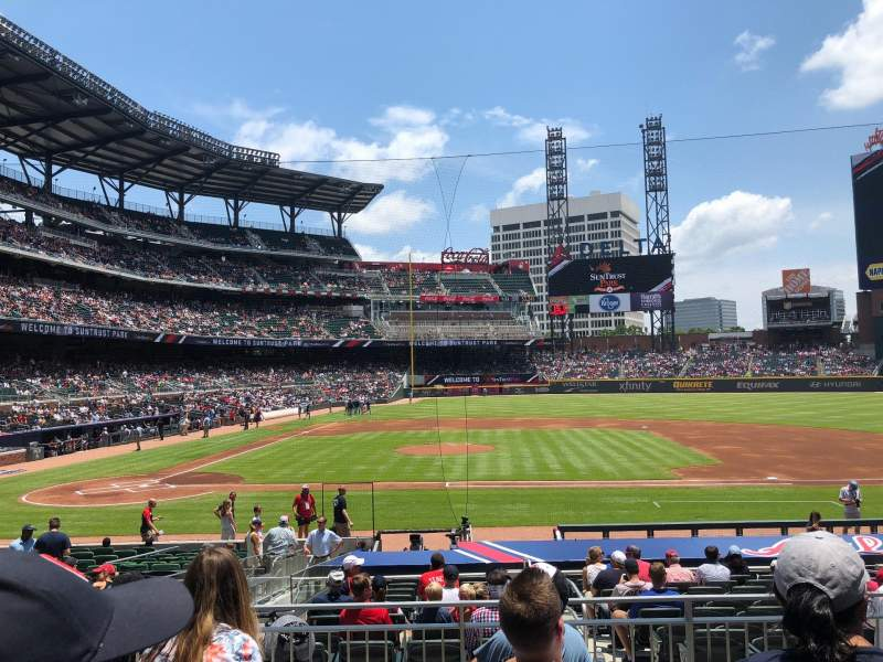 Seating view for SunTrust Park Section 120 Row 5 Seat 14