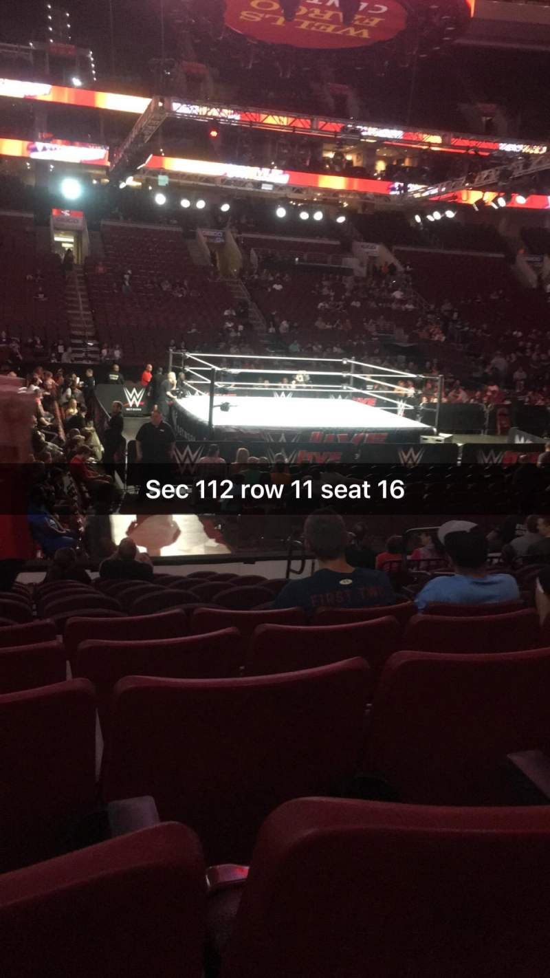 Wells Fargo Center, section: 112, row: 11, seat: 16