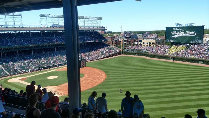 Seating view for Wrigley Field Section 430R Row 5 Seat 7