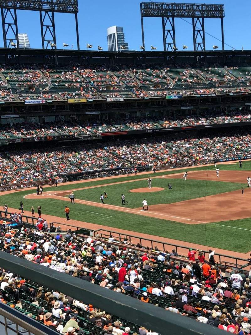Seating view for Oracle Park Section 202 Row A Seat 13
