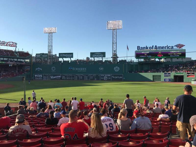Fenway Park, section: Right Field Box 97, row: JJ, seat: 5