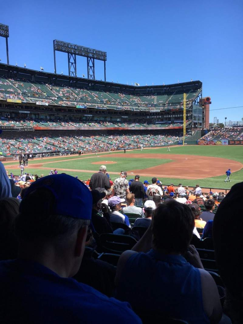 Seating view for Oracle Park Section LB105 Row 32 Seat 9