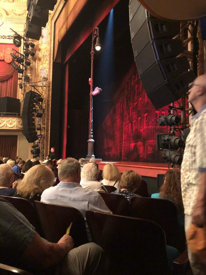 Longacre Theatre, section: Orchestra, row: F, seat: 15