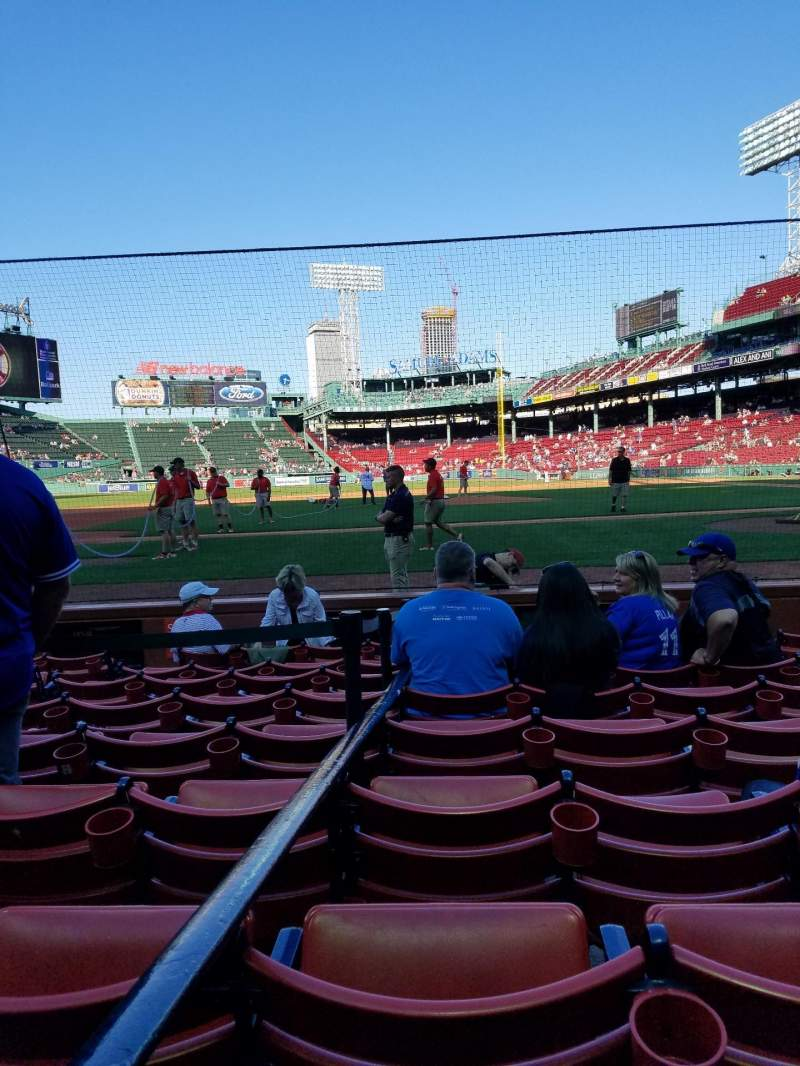 Fenway Park, section: Field Box 59, row: F, seat: 4