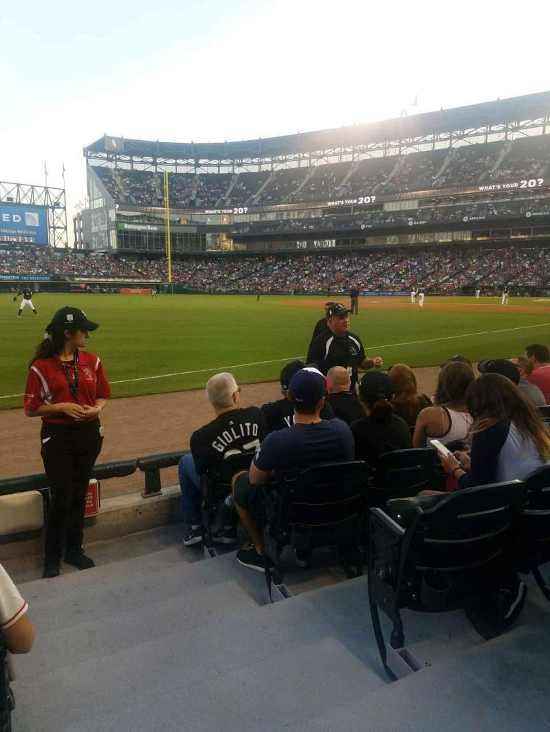 Seating view for Guaranteed Rate Field Section 150 Row 4 Seat 1