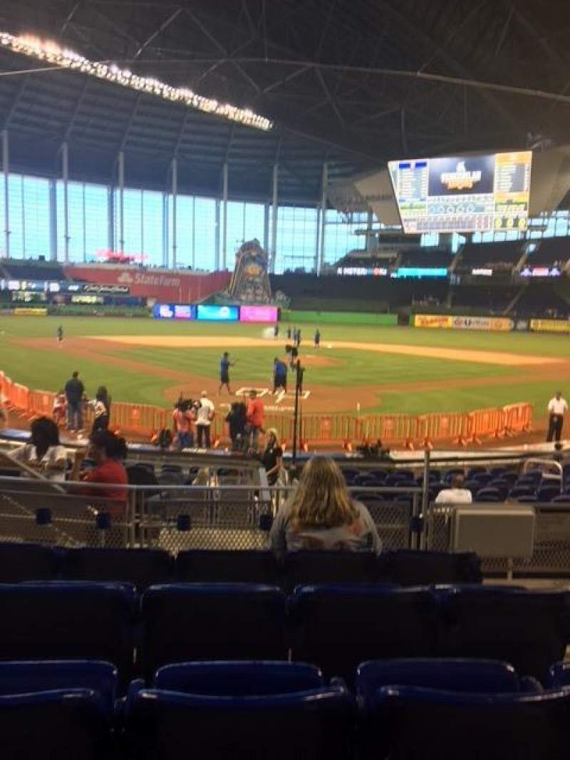 Marlins Park, section: 14, row: E, seat: 3