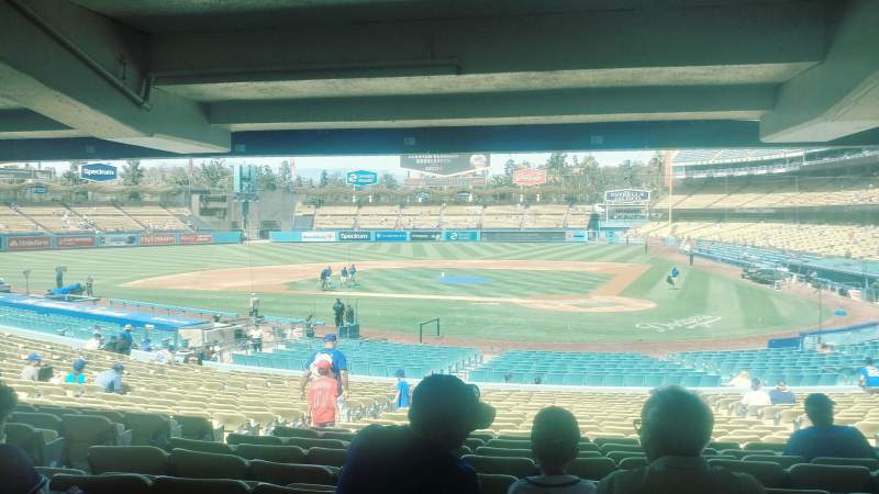 Dodger Stadium, section: 7FD, row: DR, seat: 4